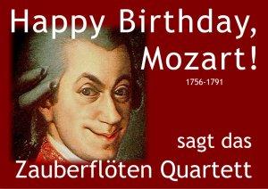W.A. Mozart Geburtstag Zauberflöten Quartett
